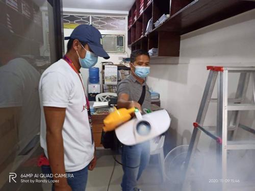 Disinfection of Arayat Town Hall